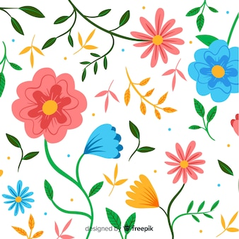 Design plat fond décoratif floral