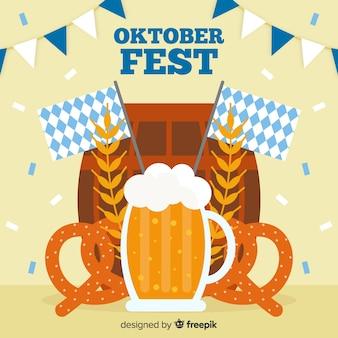Design plat de fond décoratif oktoberfest