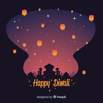Design plat de fond de diwali