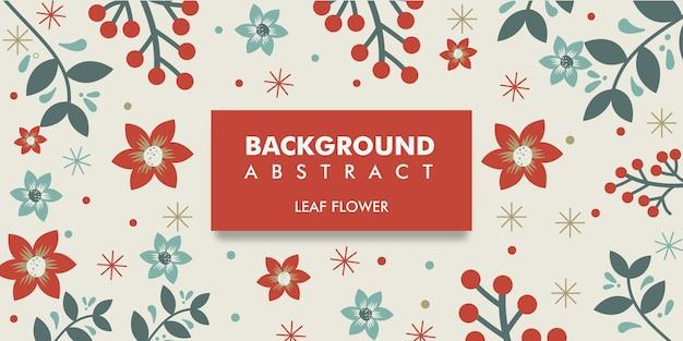 Design plat de fond de feuilles et de fleurs