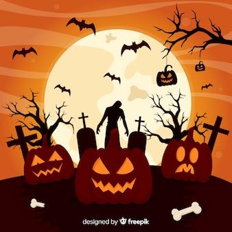 Design plat de fond d'halloween