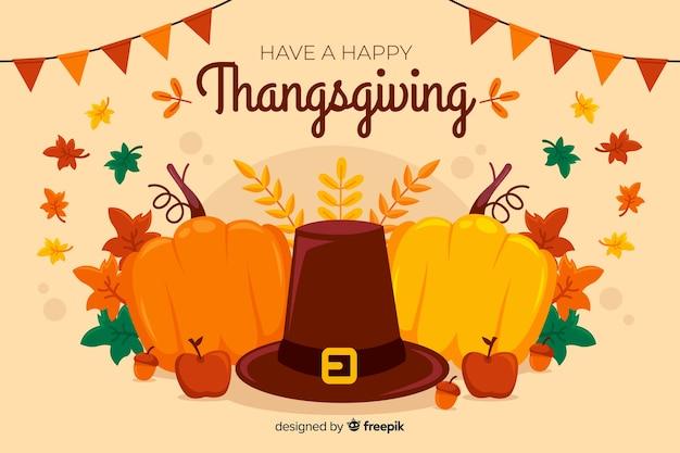 Design plat de fond heureux thanksgiving