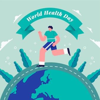 Design plat fond de la journée mondiale de la santé