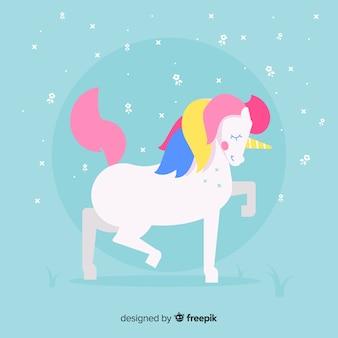 Design plat fond de licorne mignon