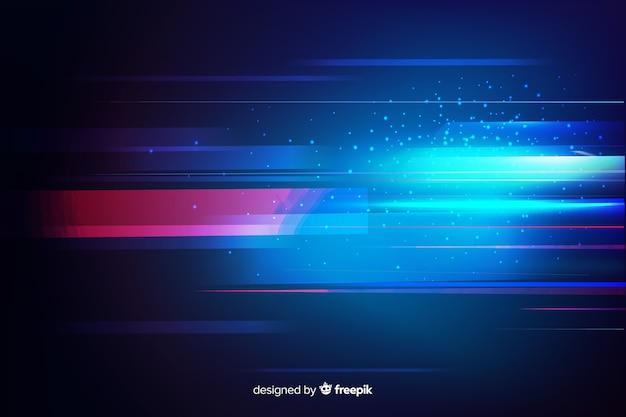 Design plat de fond de mouvement léger