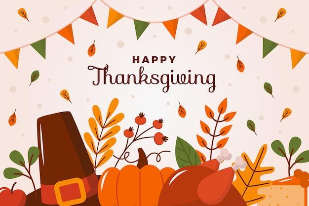 Design plat de fond de thanksgiving