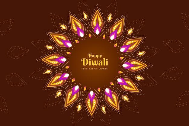 Design plat de formes colorées événement diwali