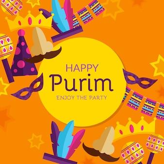 Design plat happy purim day