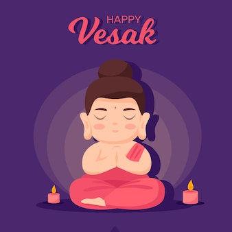 Design plat happy vesak