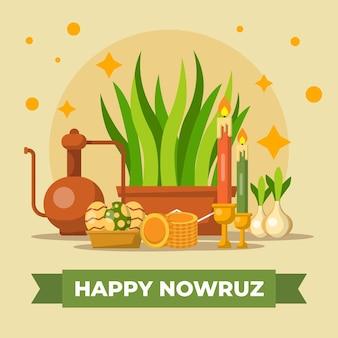 Design plat heureux événement traditionnel nowruz