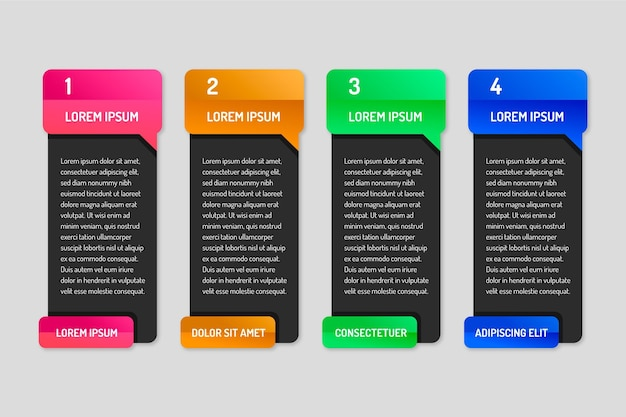 Design plat d'infographie de bulles
