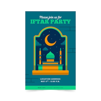 Design plat d'invitation iftar