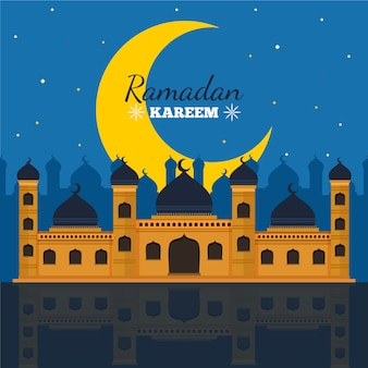 Design plat jour du ramadan