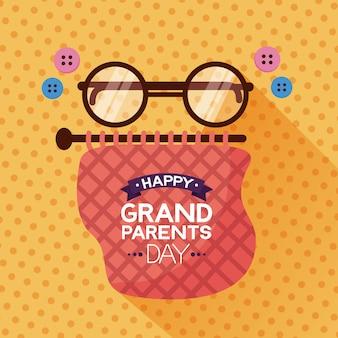 Design plat jour heureux de grands-parents