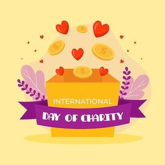 Design plat journée internationale du concept de charité