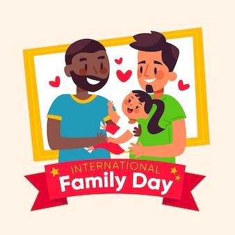 Design plat de la journée internationale de la famille
