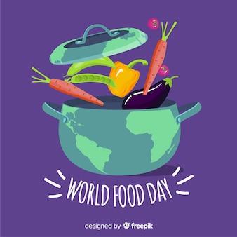 Design plat de la journée mondiale de l'alimentation