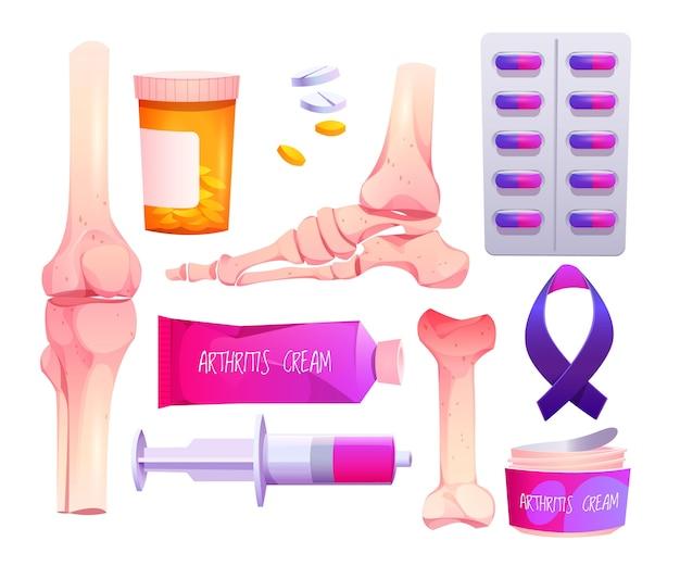 Design plat de la journée mondiale de l'arthrite