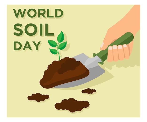 Design plat de la journée mondiale des sols