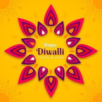 Design plat joyeux festival de diwali