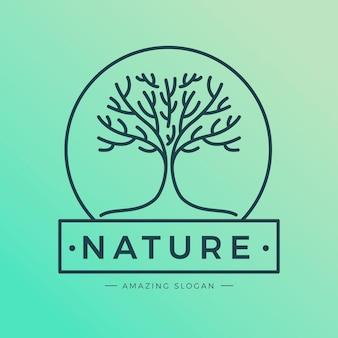 Design plat de logo de vie d'arbre