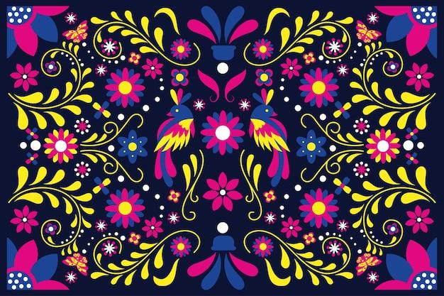 Design plat mexicain coloré