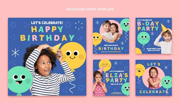 Design plat minimal anniversaire ig posts
