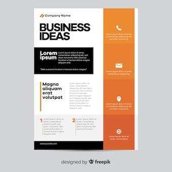 Design plat de modèle affaires géométrique flyer