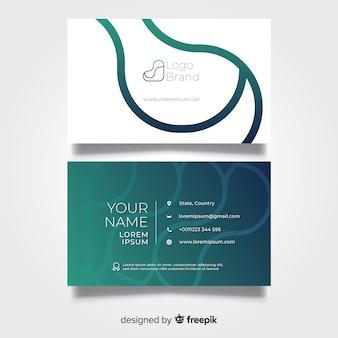 Design plat de modèle de carte de visite