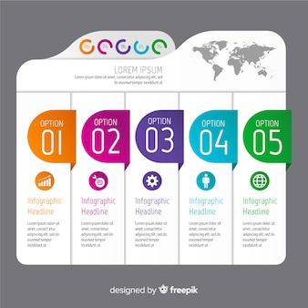 Design plat modèle dégradé infographique