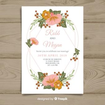 Design plat modèle invitation de mariage