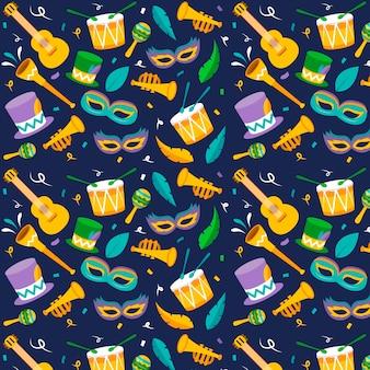 Design plat de motif carnaval coloré brésilien