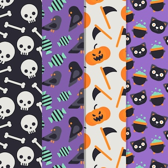 Design plat de motifs halloween