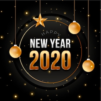 Design plat nouvel an 2020 fond