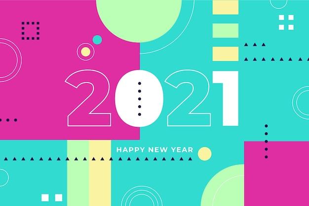 Design plat nouvel an 2021 fond