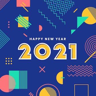 Design plat nouvel an 2021