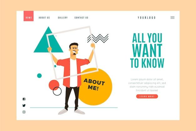 Design plat organique sur moi modèle web illustré