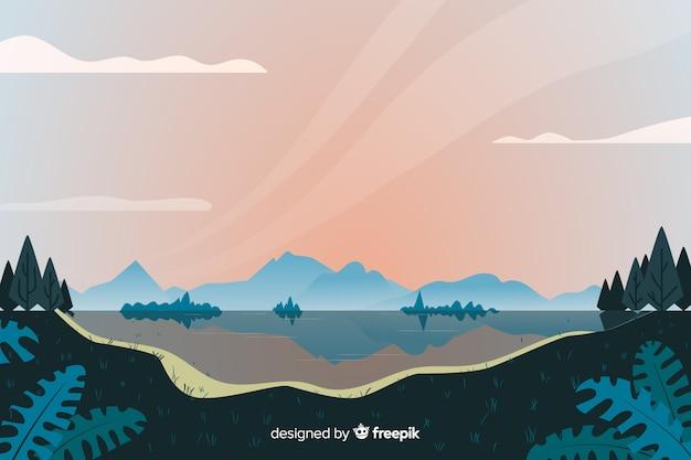Design plat de paysage naturel