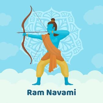 Design plat pour l'événement ram navami