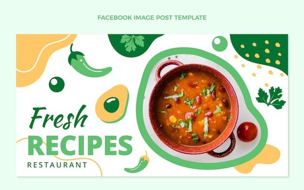 Design plat de la publication facebook de la nourriture