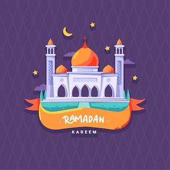 Design plat ramadan kareem