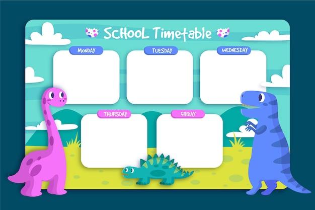 Design plat retour au calendrier scolaire