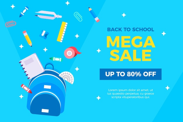 Design plat retour au concept de vente scolaire