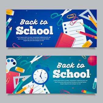 Design plat retour au modèle de bannières scolaires