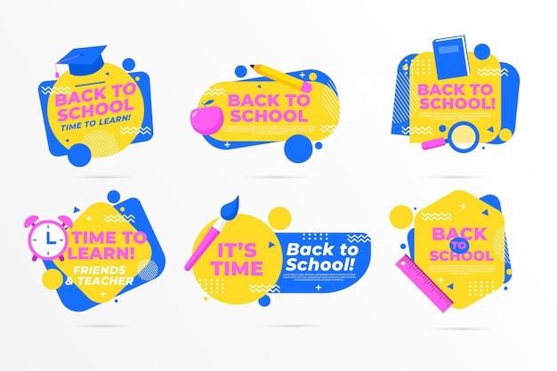 Design plat retour à la collection d'insignes d'école