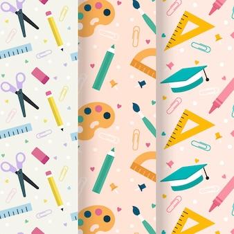 Design plat retour à la collection de modèles d'école