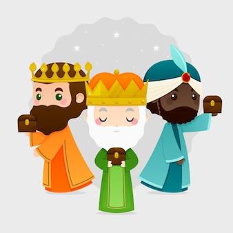Design plat reyes magos day