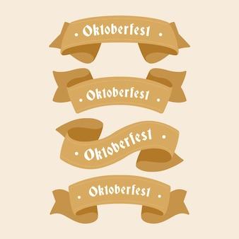 Design plat rubans bruns festival de la bière oktoberfest