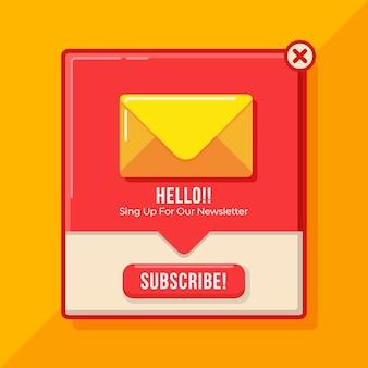 Design plat s'abonner pop-up