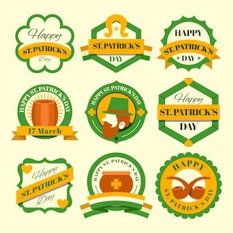 Design plat st. collection d'insignes de patricks day